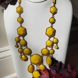 Mustard Yellow Long Necklace